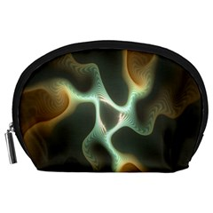 Colorful Fractal Background Accessory Pouches (large)  by Simbadda