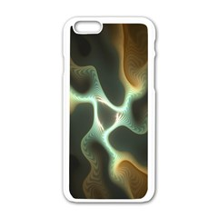Colorful Fractal Background Apple Iphone 6/6s White Enamel Case by Simbadda