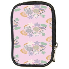 Floral Flower Rose Sunflower Star Leaf Pink Green Blue Compact Camera Cases by Alisyart