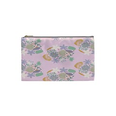 Floral Flower Rose Sunflower Star Leaf Pink Green Blue Cosmetic Bag (small)  by Alisyart