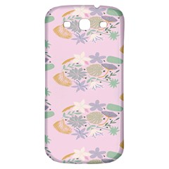Floral Flower Rose Sunflower Star Leaf Pink Green Blue Samsung Galaxy S3 S Iii Classic Hardshell Back Case by Alisyart