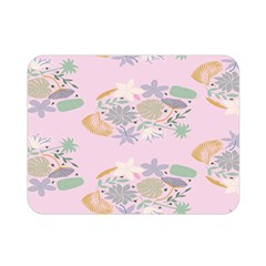 Floral Flower Rose Sunflower Star Leaf Pink Green Blue Double Sided Flano Blanket (mini)  by Alisyart