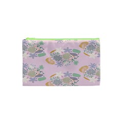 Floral Flower Rose Sunflower Star Leaf Pink Green Blue Cosmetic Bag (xs) by Alisyart