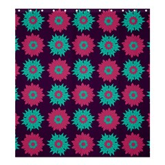 Flower Floral Rose Sunflower Purple Blue Shower Curtain 66  X 72  (large)  by Alisyart
