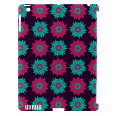 Flower Floral Rose Sunflower Purple Blue Apple iPad 3/4 Hardshell Case (Compatible with Smart Cover)