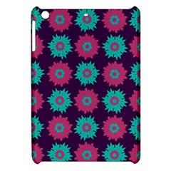 Flower Floral Rose Sunflower Purple Blue Apple Ipad Mini Hardshell Case by Alisyart