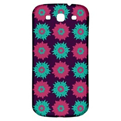 Flower Floral Rose Sunflower Purple Blue Samsung Galaxy S3 S Iii Classic Hardshell Back Case by Alisyart