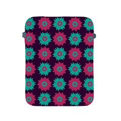 Flower Floral Rose Sunflower Purple Blue Apple Ipad 2/3/4 Protective Soft Cases by Alisyart