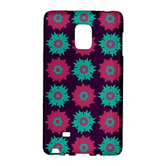 Flower Floral Rose Sunflower Purple Blue Galaxy Note Edge by Alisyart