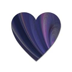 Purple Fractal Heart Magnet by Simbadda