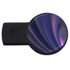 Purple Fractal Usb Flash Drive Round (2 Gb) by Simbadda