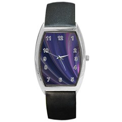 Purple Fractal Barrel Style Metal Watch by Simbadda