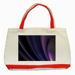 Purple Fractal Classic Tote Bag (red) by Simbadda