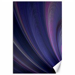 Purple Fractal Canvas 20  X 30   by Simbadda