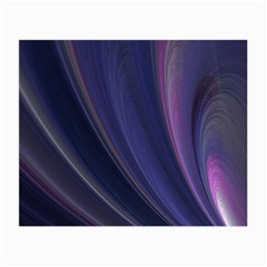Purple Fractal Small Glasses Cloth (2 Side) by Simbadda