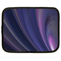 Purple Fractal Netbook Case (large) by Simbadda