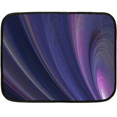 Purple Fractal Fleece Blanket (mini) by Simbadda