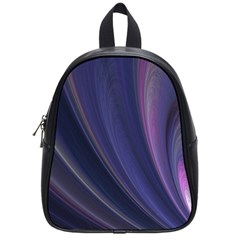 Purple Fractal School Bags (small)  by Simbadda