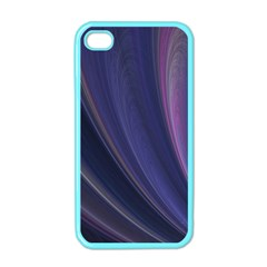 Purple Fractal Apple Iphone 4 Case (color) by Simbadda