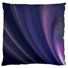 Purple Fractal Large Cushion Case (two Sides) by Simbadda