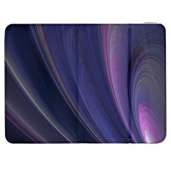 Purple Fractal Samsung Galaxy Tab 7  P1000 Flip Case by Simbadda