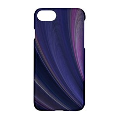 Purple Fractal Apple Iphone 7 Hardshell Case by Simbadda