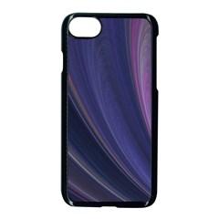 Purple Fractal Apple Iphone 7 Seamless Case (black) by Simbadda