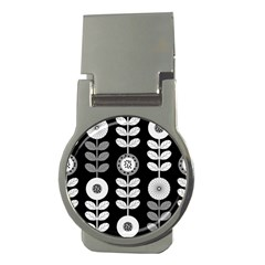 Floral Pattern Seamless Background Money Clips (round)