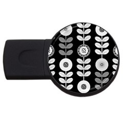 Floral Pattern Seamless Background Usb Flash Drive Round (4 Gb) by Simbadda