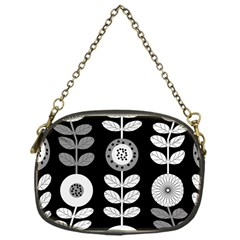 Floral Pattern Seamless Background Chain Purses (one Side)  by Simbadda