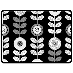 Floral Pattern Seamless Background Fleece Blanket (large)  by Simbadda