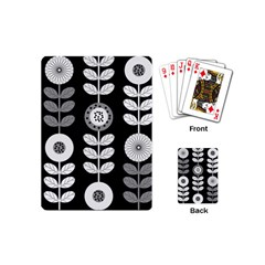 Floral Pattern Seamless Background Playing Cards (mini)  by Simbadda