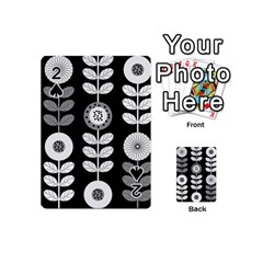 Floral Pattern Seamless Background Playing Cards 54 (mini)  by Simbadda