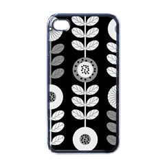 Floral Pattern Seamless Background Apple Iphone 4 Case (black) by Simbadda