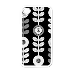 Floral Pattern Seamless Background Apple Iphone 4 Case (white) by Simbadda