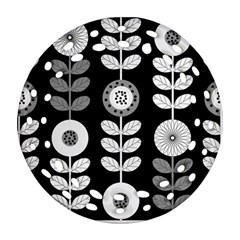 Floral Pattern Seamless Background Ornament (round Filigree) by Simbadda