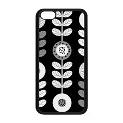 Floral Pattern Seamless Background Apple Iphone 5c Seamless Case (black) by Simbadda