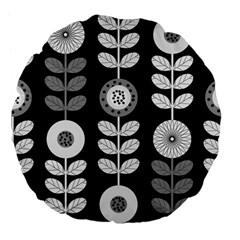 Floral Pattern Seamless Background Large 18  Premium Flano Round Cushions by Simbadda
