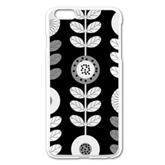 Floral Pattern Seamless Background Apple Iphone 6 Plus/6s Plus Enamel White Case by Simbadda