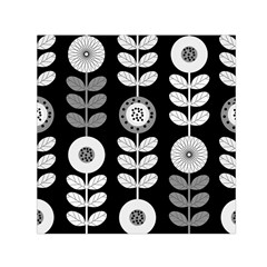 Floral Pattern Seamless Background Small Satin Scarf (square) by Simbadda