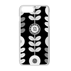 Floral Pattern Seamless Background Apple Iphone 7 Plus White Seamless Case by Simbadda