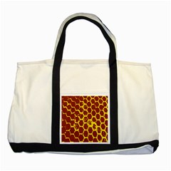 Network Grid Pattern Background Structure Yellow Two Tone Tote Bag by Simbadda