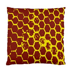 Network Grid Pattern Background Structure Yellow Standard Cushion Case (one Side) by Simbadda