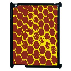 Network Grid Pattern Background Structure Yellow Apple Ipad 2 Case (black) by Simbadda