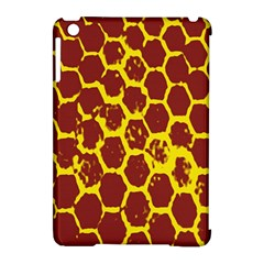 Network Grid Pattern Background Structure Yellow Apple Ipad Mini Hardshell Case (compatible With Smart Cover) by Simbadda