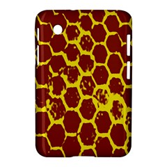 Network Grid Pattern Background Structure Yellow Samsung Galaxy Tab 2 (7 ) P3100 Hardshell Case  by Simbadda