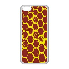 Network Grid Pattern Background Structure Yellow Apple Iphone 5c Seamless Case (white) by Simbadda