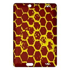 Network Grid Pattern Background Structure Yellow Amazon Kindle Fire Hd (2013) Hardshell Case by Simbadda