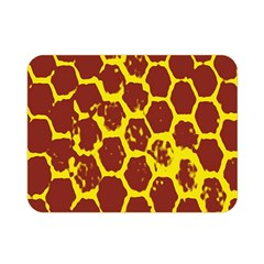 Network Grid Pattern Background Structure Yellow Double Sided Flano Blanket (mini)  by Simbadda