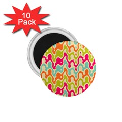 Abstract Pattern Colorful Wallpaper 1 75  Magnets (10 Pack)  by Simbadda